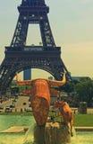 Turnera Eiffel Paris Frankrike Arkivbilder