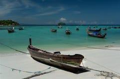 Turnera fartyg Koh Lipe ö - Thailand Fotografering för Bildbyråer