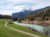 Turnera Maloja, Bernina, Splügen arkivfoto