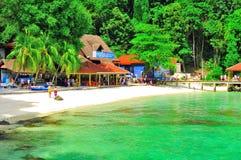 Turnera till den härliga tropiska ön Royaltyfri Foto