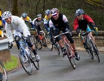 turnerar den amgencykelKalifornien racen 2008 Fotografering för Bildbyråer