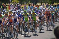 turnerar den sista racen 2009 för downunder Arkivfoton