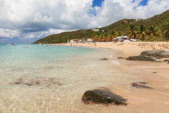 Turners Beach, Antigua. The view across Turner's Beach on the Caribbean Island of Antigua Stock Photo