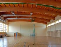 Turnhalle in der Schule Sportanlage Gesunde Bildung von Kindern Körperliche Kultur und Sport Bildung von Kindern und von Jugend S lizenzfreie stockbilder