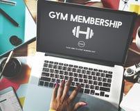 Turnhallen-Mitgliedschafts-Übungs-Gewichts-Ikonen-Konzept Lizenzfreie Stockfotos
