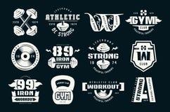 Turnhallenclub, Eignung und Trainingsausweise und -logo lizenzfreie abbildung