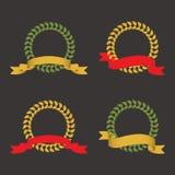 turniejowego laurowego liść ustalony zwycięzcy wianek royalty ilustracja