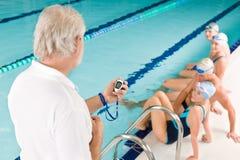 turniejowej basenu pływaczki pływacki szkolenie Obrazy Royalty Free