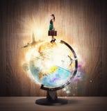 Turning around the world Stock Photos