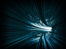 Turning blue abstract tunnel Royalty Free Stock Images