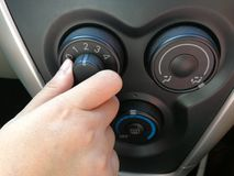 Turning button of air condition fan Royalty Free Stock Image