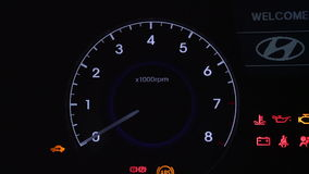 Turning On The Car Dashboard 2. Turning On The Car Dashboard HD stock video