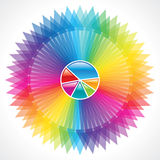 Turning colorful arrows Royalty Free Stock Image