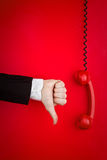 Turning Down Phone Call Royalty Free Stock Images