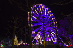 Turning Ferris wheel on a christmas market, Maastricht Royalty Free Stock Photography
