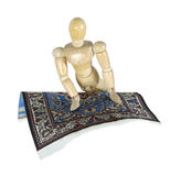 Turning on a Flying Carpet Stock Photo