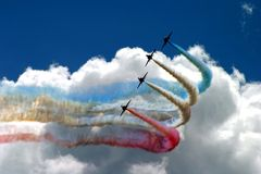 Turning flying formation Stock Images