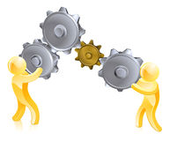 Turning gears Royalty Free Stock Photography