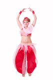 Turning genie Royalty Free Stock Image