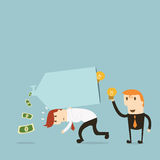 Turning ideas. Into money, teamwork Royalty Free Stock Photos