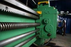 Turning lathe. Huge turning lathe in a repair workshop Royalty Free Stock Image