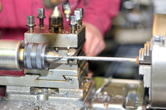 Turning lathe in action Stock Photography