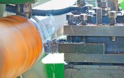 Turning lathe in action Stock Photos