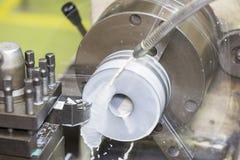 Turning by lathe machine Royalty Free Stock Photography