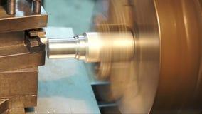 Turning lathe , turning out side aluminum. stock video