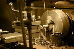 Turning lathe Royalty Free Stock Photo