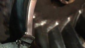 Turning metal working. Industrial video stock footage