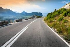 Turning mountain highway Stock Image