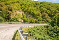Turning mountain road Stock Photos