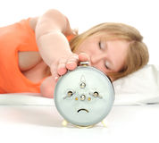 Turning Off Alarm Clock. Stock Images