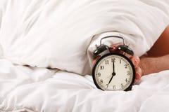 Turning Off Alarm Clock Stock Photo