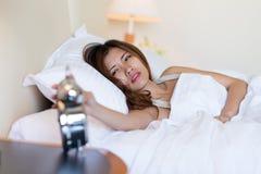 Turning off alarm clock Royalty Free Stock Photography
