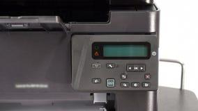 Turning on office printer stock footage
