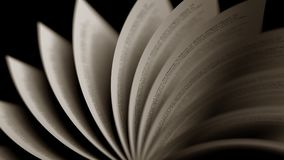 Turning old book pages, close-up. 3D rendering. Turning old book pages, 3D Royalty Free Stock Images