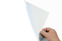 Turning page Stock Images