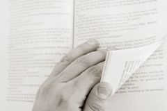 Turning the page Royalty Free Stock Photo