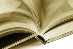 Turning pages Stock Image
