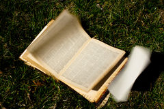 Turning Pages of a Book Stock Image