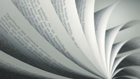 Turning Pages (Loop) Greek Book stock footage