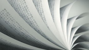 Turning Pages (Loop) Japanese Book. Book pages with random Japanese words / sentences stock footage