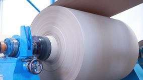 Turning paper coils stock video