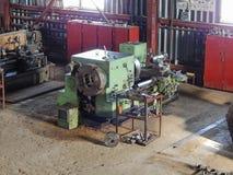 Turning pipe-threading machine. Royalty Free Stock Photos