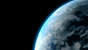 Turning planet Earth stock footage
