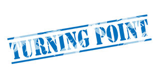 Turning point blue stamp Royalty Free Stock Photography