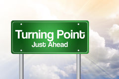 Turning Point Green Road Sign Royalty Free Stock Photo