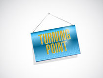 turning point hanging banner sign Stock Photos
